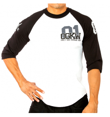 OGKW JERSEY 3/4 SLEEVE - WHITE/BLACK