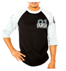 OGKW JERSEY 3/4 SLEEVE - BLACK/WHITE
