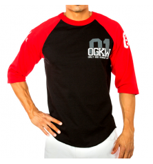 OGKW JERSEY 3/4 SLEEVE - BLACK/RED